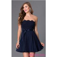 Short Strapless Sweetheart Dress by As U Wish - Discount Evening Dresses |Shop Designers Prom Dresse