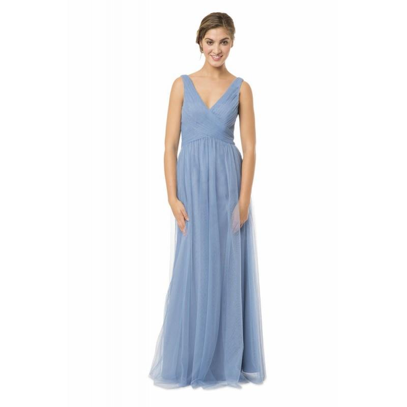 wedding, Stone Blue Bari Jay EN-1570 Bari Jay Bridesmaids - Rich Your Wedding Day