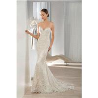 Style 604 by Illusions by Demetrios - Lace Floor length Sleeveless Sweetheart Chapel Length Sheath D