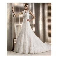 Pronovias Wedding Dresses - Style Bianca - Junoesque Wedding Dresses|Beaded Prom Dresses|Elegant Eve