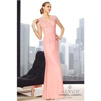 Jean De Lys by Alyce Paris 29692 Light Pink,Burgundy,Sand Dress - The Unique Prom Store
