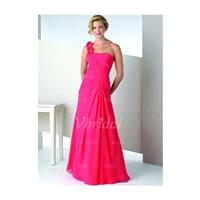 A-Line/Princess One-Shoulder Floor-Length Chiffon Mother of the Bride Dress With Ruffle Beading Flow
