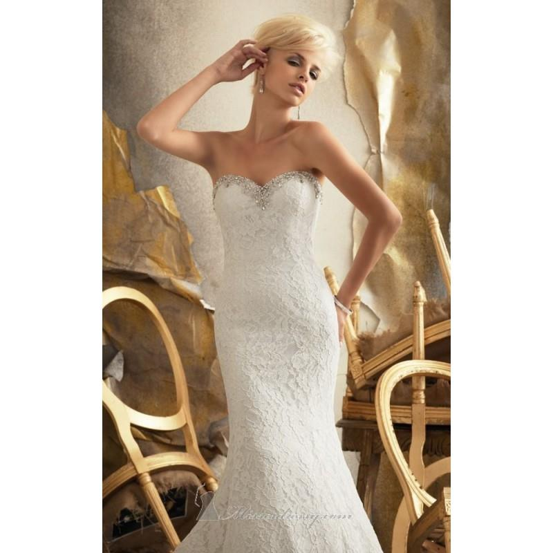 My Stuff, 2014 Cheap Strapless Embroidered Lace by Bridal by Mori Lee 1918 Dress - Cheap Discount Ev