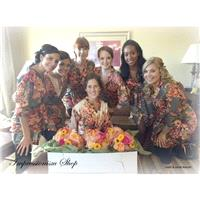 Bridesmaids Robes, Kimono Crossover Robes, Spa Wraps, Bridesmaids gift, getting ready robes, Bridal