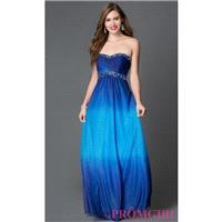 Royal Blue and Turquoise Ombre Prom Dress by Onyx Nite - Discount Evening Dresses |Shop Designers Pr
