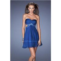 Marine Blue La Femme Short Cocktail 19430  La Femme Short Dresses - Elegant Evening Dresses|Charming