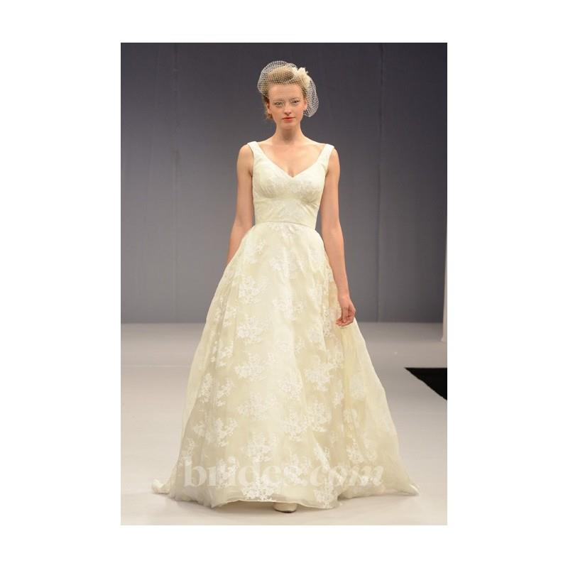 My Stuff, Anne Barge - Fall 2013 - Madeleine Silk Organza and Printed Lace A-Line Wedding Dress - St