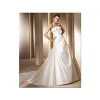 Neoteric Strapless Empire Wasit Satin Chapel Train Bridal Dress In Canada Wedding Dress Prices - dre