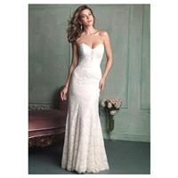 Delicate All-over Lace Sheath Sweetheart Neckline Natural Waistline Wedding Dress - overpinks.com