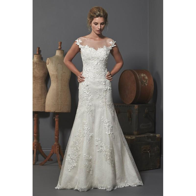 My Stuff, Romantica Oxford by Opulence Bridal - Lace Floor Off-Shoulder  Illusion Fit and Flare Wedd