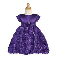 Purple Satin Bodice w/ Floral Ribboned Skirt Style: LC936 - Charming Wedding Party Dresses|Unique We