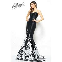 Black/Ivory Mac Duggal 80629R - Customize Your Prom Dress