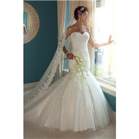 Style 6207 by Mary%27s Bridal - Semi-Cathedral Tulle Sleeveless Trumpet Sweetheart Floor length Dres