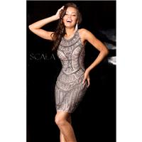 Antique Embellished Mini Dress by Scala Couture - Color Your Classy Wardrobe