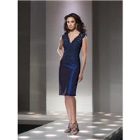 Social Occasions by Mon Cheri 214844 Navy Blue,Gray Dress - The Unique Prom Store