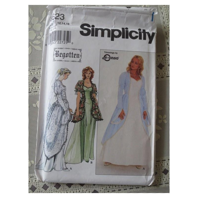 My Stuff, Renaissance-Style Wedding or Evening Gown - Sizes 12, 14 & 16 - Simplicity 8623 - Women's
