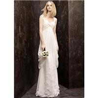 2013 Crinkle Chiffon Column Gown With Sheer Straps Vera Wang Wedding Dresses Vw351139 - Cheap Discou