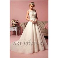 Eternity Bride Style AC504 by Art Couture - Ivory  White Beaded  Organza Floor Sweetheart  High  Ill