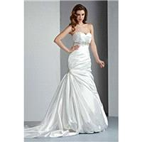Style 50024 by DaVinci Bridal - Fit-n-flare Floor length Chapel Length Sleeveless Sweetheart Dress -