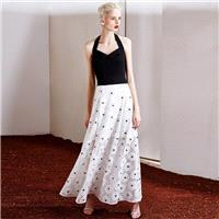 New style sexy strapless elegant hanging neck stereo retro high waist lace dresses two dresses 6385