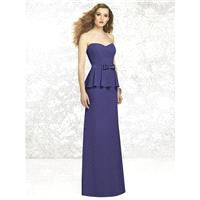 Social Bridesmaids 8129 - Strapless Social Bridesmaids Nu-Georgette Long Bridesmaids Natural Waist D