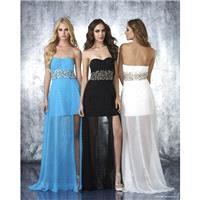 Shimmer by Bari Jay 59616 Turquoise,Black,Ivory Dress - The Unique Prom Store