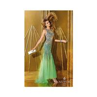 Alyce Paris 6192 Beaded Tulle Mermaid Dress - Brand Prom Dresses|Beaded Evening Dresses|Charming Par