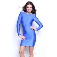 Royal Blue Long sleeve open back dress by Atria - Color Your Classy Wardrobe