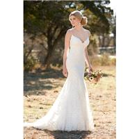 Style D2143 by Essense of Australia - Sleeveless Floor length Chapel Length LaceOrganza Sheath Sweet