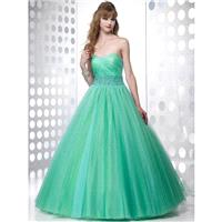 Pretty Ball Gown Sweetheart Beading Sleeveless Floor-length Tulle Prom Dresses In Canada Prom Dress