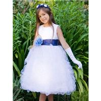 Blossom White Satin Bodice w/ Ruffled Organza Skirt Style: BL223 - Charming Wedding Party Dresses|Un