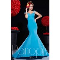 Peach Panoply 14696 - Mermaid Jersey Knit Dress - Customize Your Prom Dress