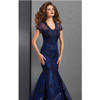 Indigo Beaded Mermaid Gown by Atelier Clarisse - Color Your Classy Wardrobe