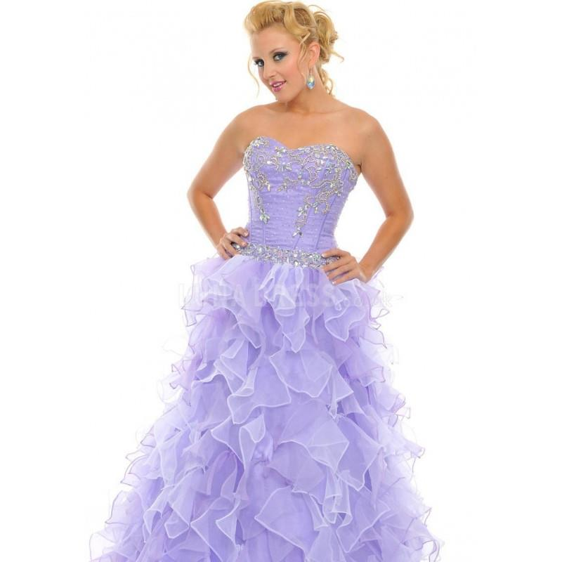 My Stuff, Natural Waist Sweetheart Princess Sleeveless Organza Prom Dresses - Compelling Wedding Dre