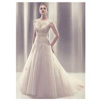 Fabulous Tulle A-line Jewel Neckline Natural Waistline Wedding Dress - overpinks.com