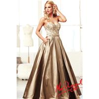 Mac Duggal Gold Ball Gown Prom Dress 76587H - Crazy Sale Bridal Dresses|Special Wedding Dresses|Uniq