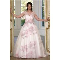 Sonsie by Veromia Style SON91612 by Sonsie - Ivory  White  Other Organza  Tulle Floral Print Floor W