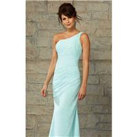 Pleated Asymmetrical Gown by Angelina Faccenda Bridesmaids - Color Your Classy Wardrobe