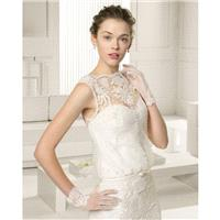 Chiffon Bateau Column Sweep Train Wedding Dress With Appliques - dressosity.com