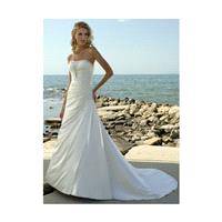 2017 A Line Strapless Court Train Elastic Woven Satin Wedding Dress In Canada Wedding Dress Prices -