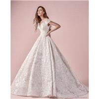 Saiid Kobeisy 2018 Short Sleeves Ball Gown Off-the-shoulder Chapel Train Sweet Ivory Hall Lace Fall