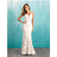 Ivory/Silver Allure Bridals 9316 Allure Bridal - Rich Your Wedding Day