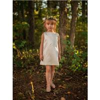 Cross Diagonals Flower Girls Dress in Ivory - Made to Order - Hand-made Beautiful Dresses|Unique Des