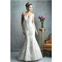 Allure Couture Style C322 by Allure Couture - Ivory  White  Champagne Lace  Tulle Illusion back Floo