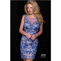 Jovani JVN47022 Dress - Short JVN by Jovani Fitted Bateau, Illusion, Yoke Short and Cocktail Dress -