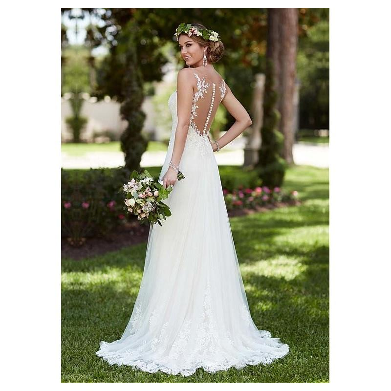 My Stuff, Alluring Tulle Scoop Neckline Sheath Wedding Dresses with Lace Appliques - overpinks.com