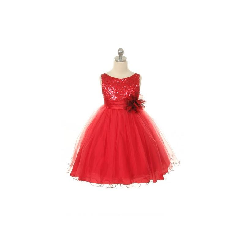 My Stuff, Sophie Pearl- Flower Girl Dress in Red - Crazy Sale Bridal Dresses|Special Wedding Dresses