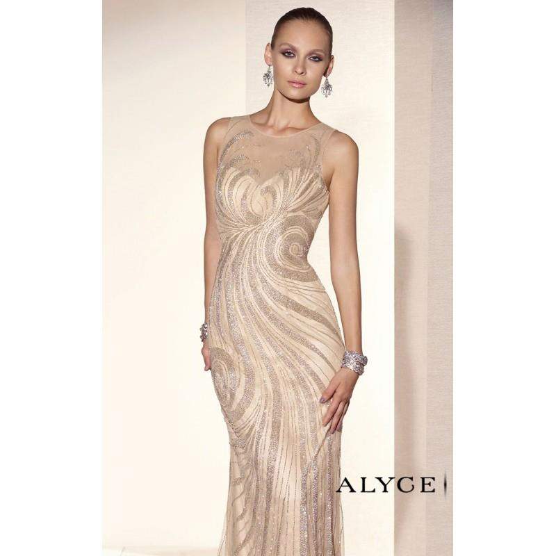 My Stuff, Beaded Tulle Dresses by Alyce Black Label 5672 - Bonny Evening Dresses Online