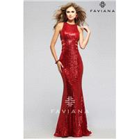 Red Faviana 7705 Faviana - Rich Your Wedding Day