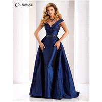 Clarisse 4862 Evening Dress - Long A Line, Trumpet Skirt Prom Off the Shoulder, V Neck Clarisse Dres